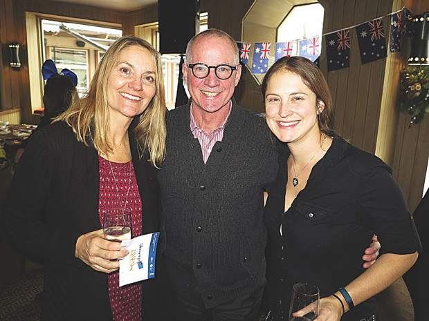 Julia Theisen of the Aspen Chamber with Pete Hayda of The Little Nell and Eliza Voss of the Aspen Chamber.