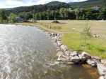 The Pan and Fork site was irrigated but not usable last summer. The Town Council wants to proceed with a park on the part it owns, along the Roaring Fork River.