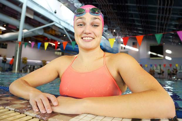 Aspen High School senior Kennidy Quist poses for a photo at the Aspen Recreation Center pool earlier this winter.