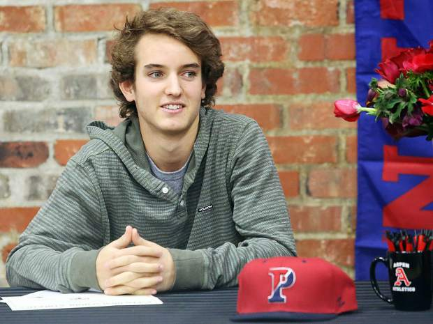 Aspen High School senior Matthew Lambert signed his letter of intent Wednesday to play tennis for the University of Pennsylvania.