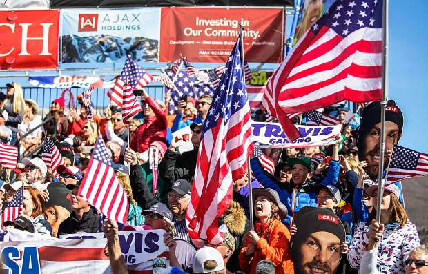 Fans go wild for U.S. skiers for the World Cup Finals on Thursday in Aspen.