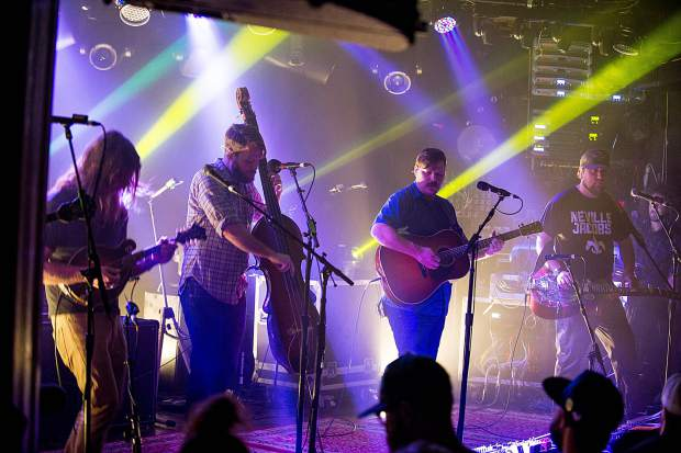 Greensky Bluegrass at their sold-out show Tuesday night at Belly Up Aspen