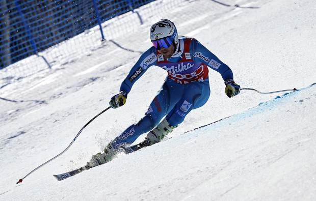 Norway's Kjetil Jansrud skis during a run at the men's World Cup super-G ski race Thursday, March 16, 2017, in Aspen, Colo. (AP Photo/Nathan Bilow)