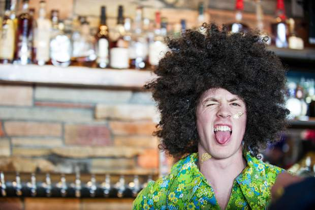 Ale House bartender at Aspen Highlands' closing day on Sunday.