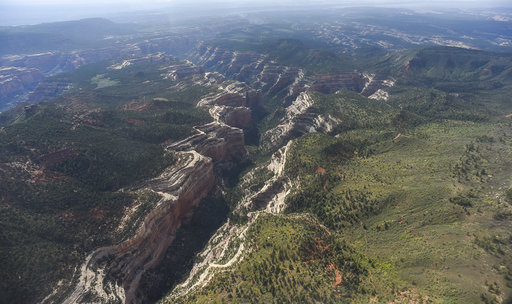 Parts of Arch Canyon within Bears Ears National Monument reveal the vast landscape of the 1.35 million acres in southeastern Utah protected by President Barack Obama on Dec. 28, 2016.