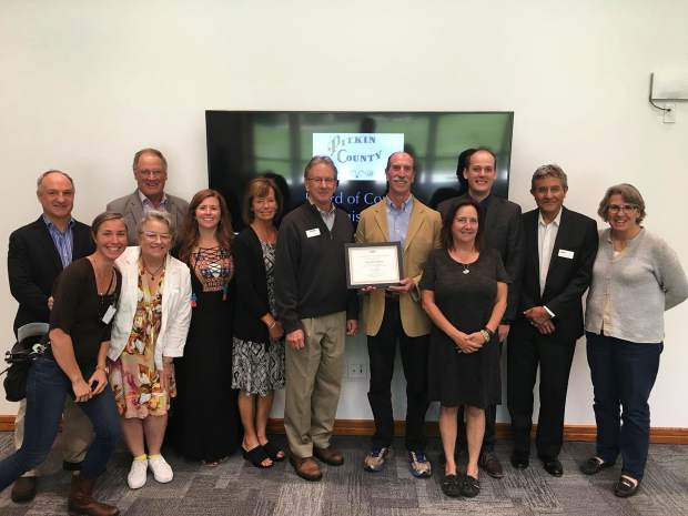 Pitkin County was recognized as an Age-Friendly Community by the World Health Organization and AARP on May 24. Pitkin County commissioners accepted the Age-Friendly Community designation from AARP Colorado Director Bob Murphy and Associate Director Roberto Rey.