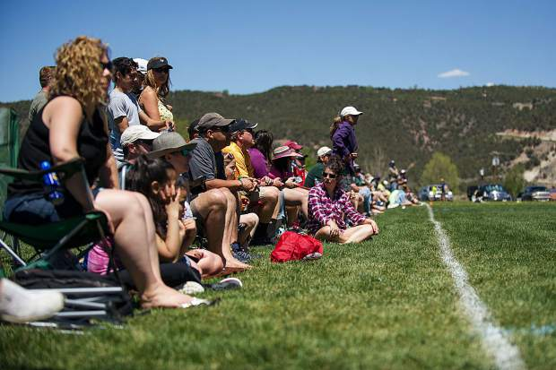 Spectators packed the sidelines for the lacrosse tournament on Saturday at the Crown Mountain Park in El Jebel.