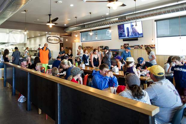 Sure Thing Burger in Basalt was packed during lunch on Saturday with the lacrosse tournament nearby.