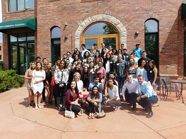 Pictured above is the group of high school graduates from Aspen to Parachute who received a combined $411,000 in scholarships this year from Aspen Community Foundation. Eight-four graduates and 31 continuing college students were awarded the scholarships.