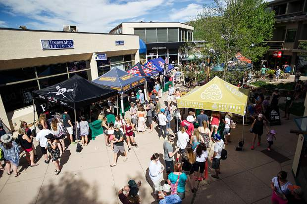 The crowd at the Snowmass Rendezvous Craft Beer Festival on Saturday.