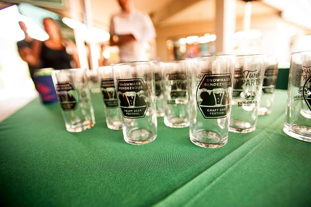 The glasses for sampling at the Snowmass Rendezvous Craft Beer Festival on Saturday.