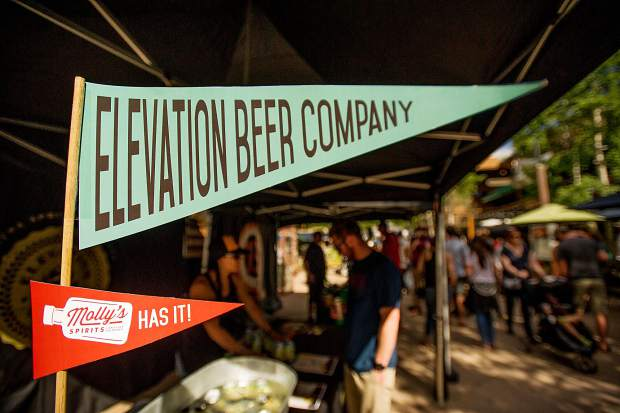 The Elevation Beer Company booth at the Snowmass Rendezvous Craft Beer Festival on Saturday.