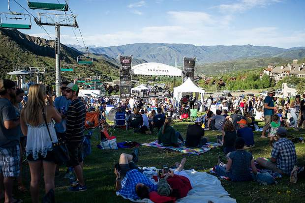 Hot Buttered Rum's show Saturday evening marked the first of Snowmass free concert series this summer.