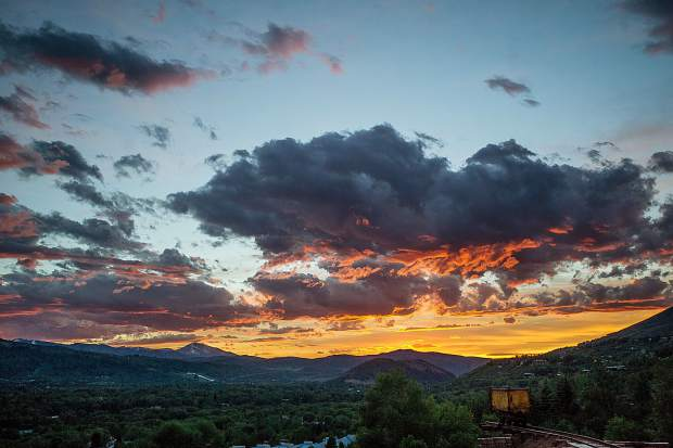 The sunset Saturday night from the Infinite Monkey Theorem Winery
