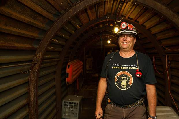The Smuggler Mine tour guide at the Saturday night from the Infinite Monkey Theorem Winery