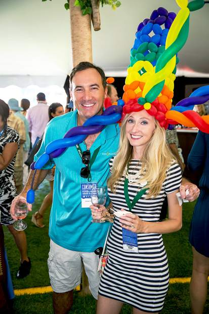 Andrew & Kaitlyn from Jacksonville Florida enjoy the Grand Tasting in style Friday afternoon.