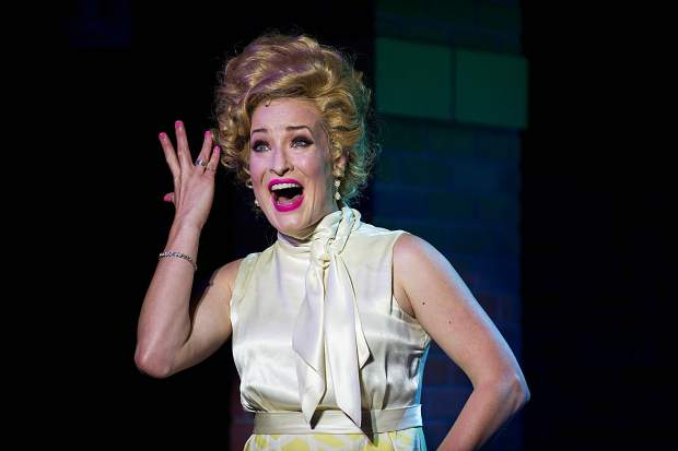 Elise Kinnon playing Velma Von Tussel in Aspen Theatre's production of Hairspray at their dress rehearsal June 23.