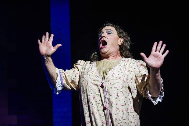 Kevin Carolan playing Edna Turnblad in the Aspen Theatre production of Hairspray at their dress rehearsal on June 23.