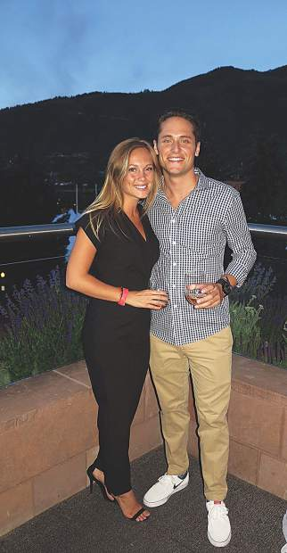 Taylor Comstock and James Trentini on a summer night in Aspen.