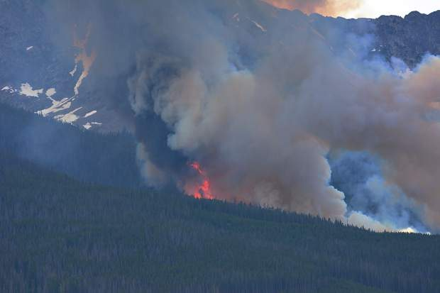 Wildfire breaks out near Breckenridge