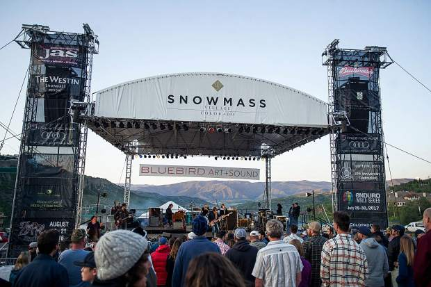 The crowd at the Bluebird Art and Sound concerts in Snowmass on June 30.