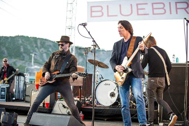 The Drive-By Truckers headlined the inaugural Bluebird Art and Sound event in Snowmass on June 30. Pictured are lead band members Patterson Hood, left, and Mike Cooley.
