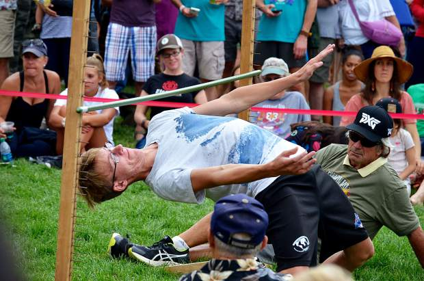 Mountain Fair's adult limbo competition drew some near-contortionist level talent.