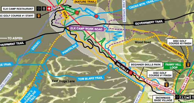 4a673061d9d Trail map of the Snowmass ski area summer trails where a mountain biker  died Saturday. Another man died on the trail in July 2017. Aspen Skiing Co.