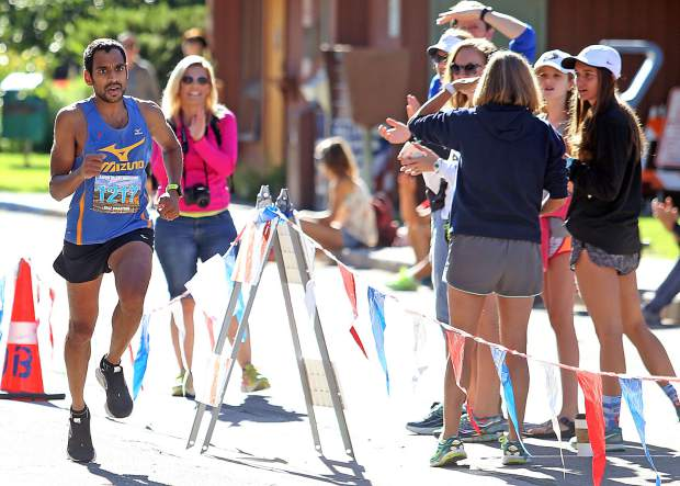 Ashish Patel of Austin, Texas, was the overall winner of the 2017 Aspen Valley Half Marathon with a time of 1 hour, 17 minutes, 33 seconds.