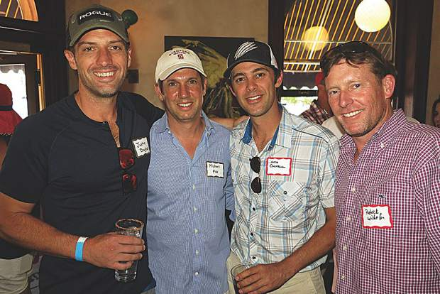 Justin Douglas, Michael Fox, David Cockerell and Patrick Wilhelm at YPO's 4th of July celebration.