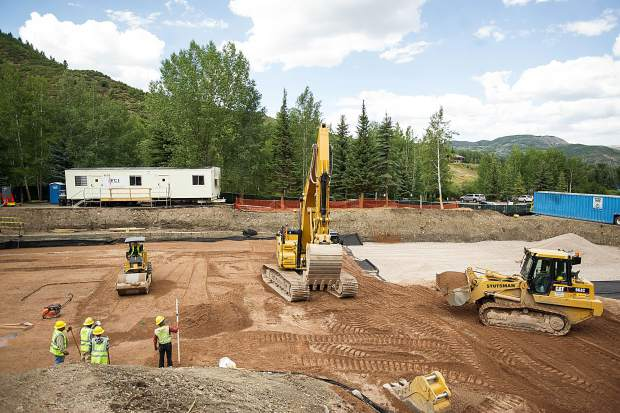 The construction site for the Snowmass Fire Department.