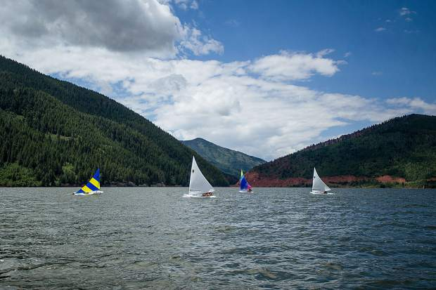 Students participating in the Don Sheeley Sailing School on Ruedi Reservoir Tuesday afternoon.
