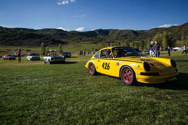 The cars were on display for people to check out Saturday afternoon at the Snowmass Town Park Softball Field.
