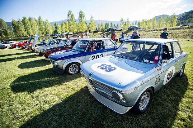 A scene from the vintage car collection show in Snowmass on Saturday.