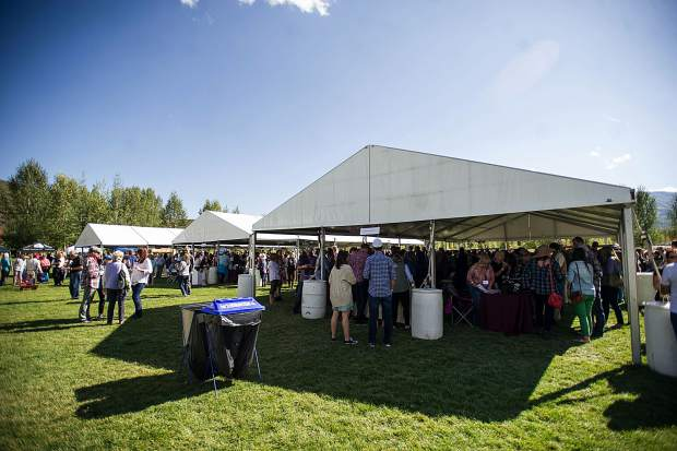 The Snowmass Wine Festival Grand Tasting held on Saturday at the Town Park.