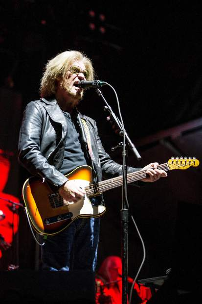 Daryl Hall of Hall and Oates playing guitar at JAS Aspen Snowmass Friday night in Snowmass.