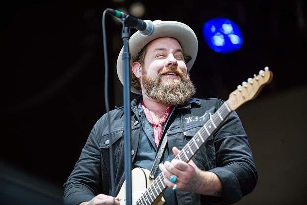Nathaniel Rateliffe smiling and the Night Sweats performing at the JAS Aspen Snowmass Labor Day Experience in Snowmass on Saturday.