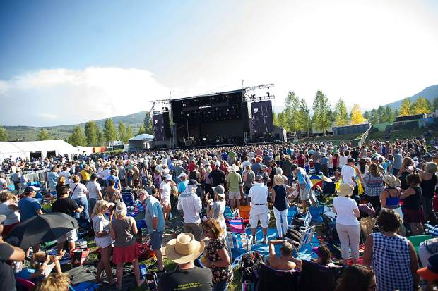 The large crowd for JAS Aspen Snowmass Labor Day Experience on Saturday.