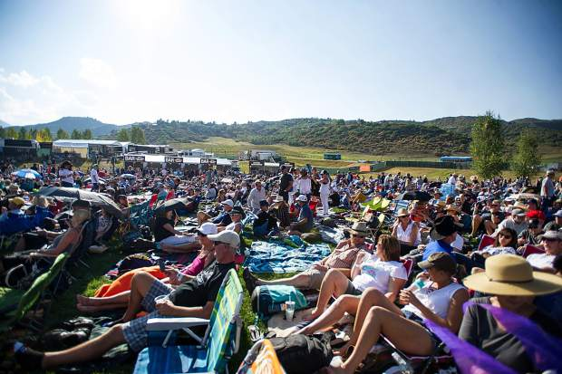 The crowd beating the heat Saturday in Snowmass for the JAS Aspen Snowmass Labor Day Experience concerts.