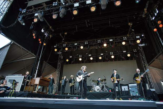 Nathaniel Rateliffe and the Night Sweats performing at the JAS Aspen Snowmass Labor Day Experience in Snowmass on Saturday.