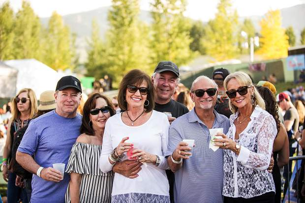 A group from San Antonio, Texas enjoying drinks and the concerts in Snowmass for the JAS Aspen Labor Day Experience.