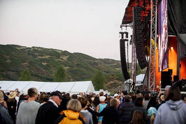 Keith Urban performing at the JAS Aspen Snowmass Labor Day Experience on Saturday night.