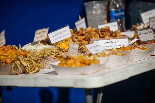 Some delicioius fried food offered by one of the vendors at the JAS Aspen Snowmass concerts on Saturday.