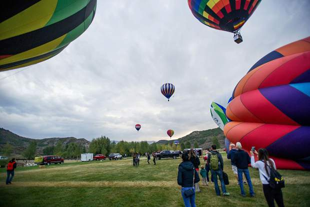 Spectators at the Snowmass 42nd Annual Balloon Festival on Friday morning.