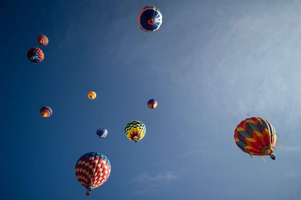 Balloons fly high at the 42nd annual balloon festival in Snowmass on Saturday.