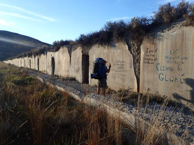 Camp Hale, where the 10th Mountain Division trained during Worl War II, is on Section 8 of The Colorado Trail. These concrete bunkers are just about all that remains.(Photo by Dean Krakel, Special to The Denver Post)