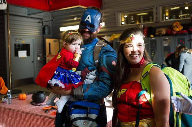 A superhero family at the