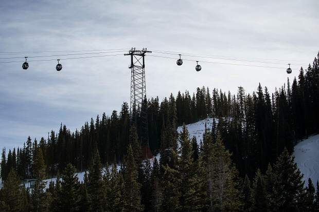 The Silver Queen Gondola running on opening day on Aspen Mountain this Thursday.