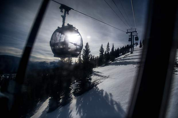 The Silver Queen Gondola on Aspen Mountain on Thursday for opening day.