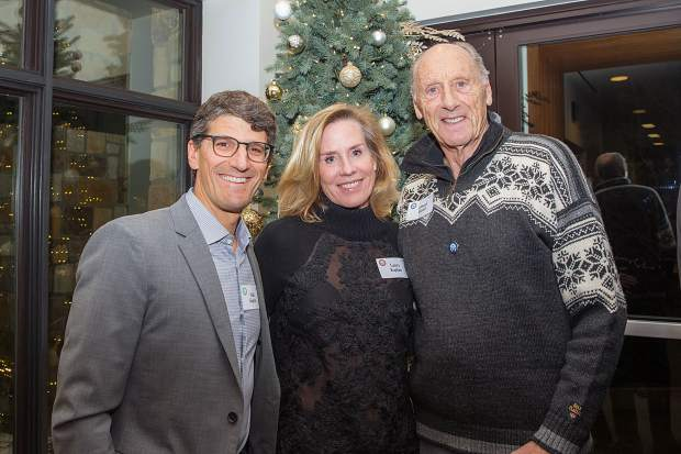 Mike and Laura Kaplan with Amund Ekroll at the 50th gala.